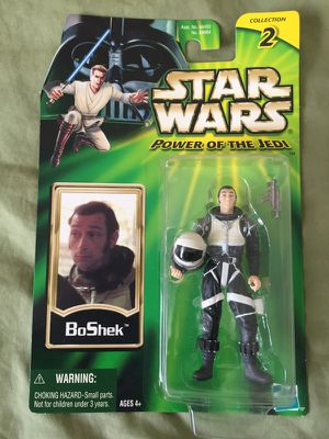 STAR WARS Power Of The Jedi SERIES CANTINA PATRON SMUGGLER BOSHEK ACTION FIGURE for Sale in Tempe, AZ