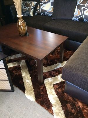 Coffee table and 2 end tables light espresso wood finish for Sale in Lemon Grove, CA