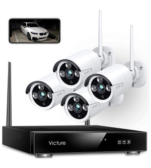 Wireless Security Camera System, Victure 1080P 8 Channel NVR 4PCS Outdoor WiFi Surveillance Camera with IP66 Waterproof, Night Vision, Motion Alert, for Sale in Staten Island, NY