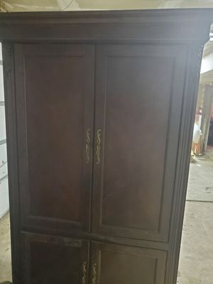 Free Cherry Wood Entertainment Center for Sale in Toms River, NJ