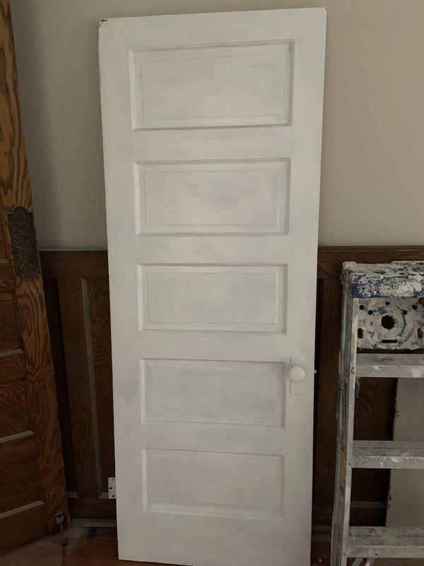 """Original Victorian interior wood door 29 3/8"""" x 79 1/2"""""""
