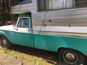 1965 Ford pickup with original camper for Sale in Tacoma, WA