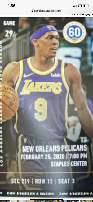 Laker tickets for Sale in Inglewood, CA