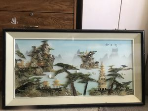 Vintage 3D Mid-Century Chinese Shell Wall Art for Sale in Garden Grove, CA