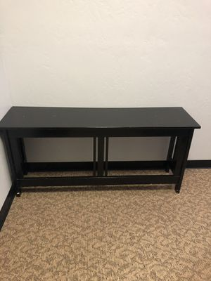 Black sofa table- 57 in long - 16 inches deep- 26 inches deep for Sale in Oceanside, CA