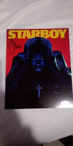 StarBoy The Weeknd Autograph with Certificate of Authenticity for Sale in Los Angeles, CA