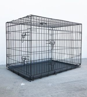 "$55 NEW Folding 42"" Dog Cage 2-Door Pet Crate Kennel w/ Tray 42""x27""x30"" for Sale in Whittier, CA"