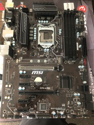 Z270-A PRO Intel Motherboard (for parts) for Sale in Oakland, CA