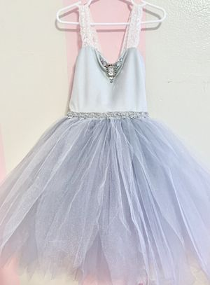 Girls tutu tulle dress - flower girl, costume, play, or photo shoot dress - Grey size 3-4t for Sale in Miami, FL