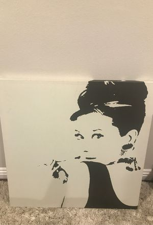 """Audrey Hepburn Canvas Print 35 x 35 x 2"""" for Sale in Beverly Hills, CA"""