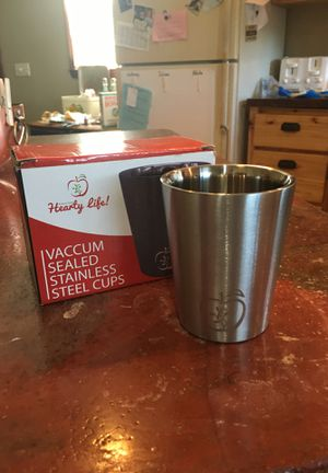 vacuum sealed stainless steel cups for Sale in Waukesha, WI