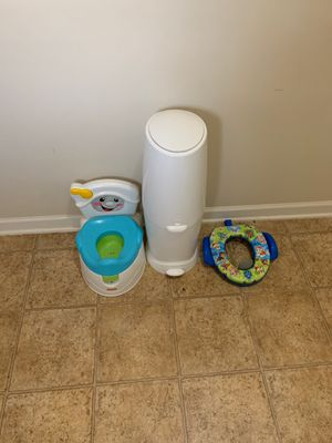 Potty Chair, Diaper Genie, & Toilet Chair pckg for Sale in Lithonia, GA