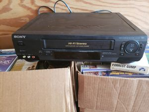 VCR Sony VHS player video tapes disney for Sale in Smithfield, VA