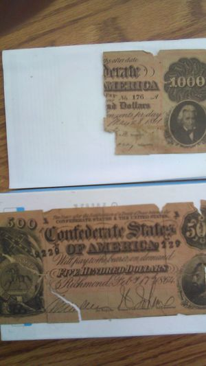 An old check or a old $500 dollar from the year 1864 for Sale in Fresno, CA