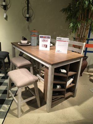 5 PC Counter Height Dining Set, Rustic White for Sale in Norwalk, CA