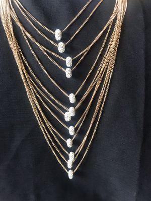 New women long tassel bib statement pendant chain necklace for Sale in Fairfax, VA
