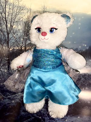 "Build a Bear workshop Disney queen Elsa Frozen white sparkly teddy bear with blue classic Dress approximately 18"" doll toy. for Sale in Paramount, CA"