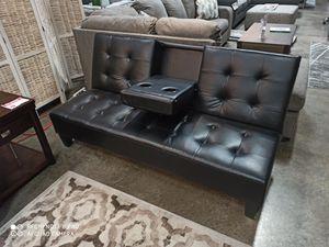 Leather Futon for Sale in Santa Fe Springs, CA