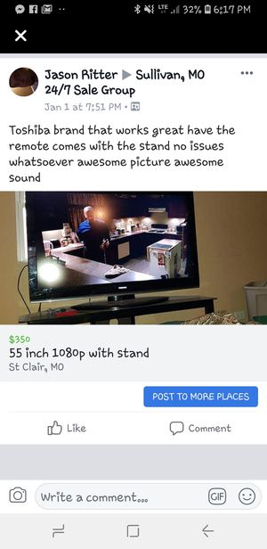 55 inch with stand and ps3 free Netflix for Sale in Saint Clair, MO