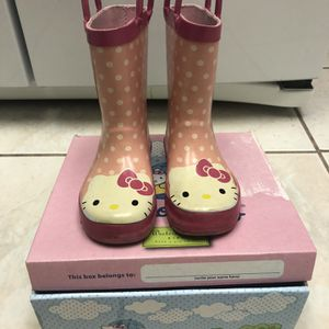 Hello Kitty Rain Boots Kids Size 10 for Sale in Pomona, CA