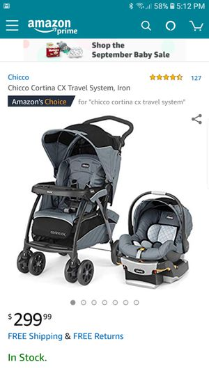 Brand New Chicco Baby Travel System - Cortina CX Stroller and Keyfit 30 Car Seat - Brand New in the Box! for Sale in Nashville, TN