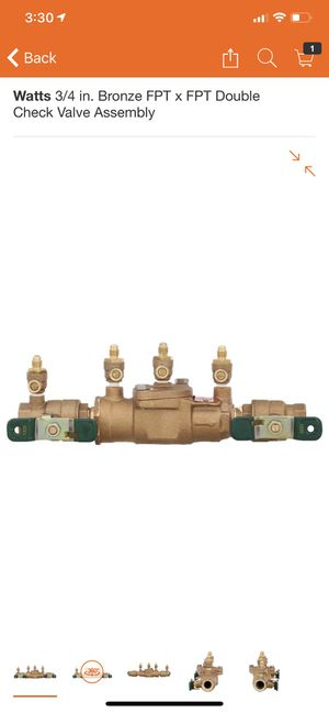 Watts 3/4 in sprinkler double check valve for Sale in Fort Worth, TX