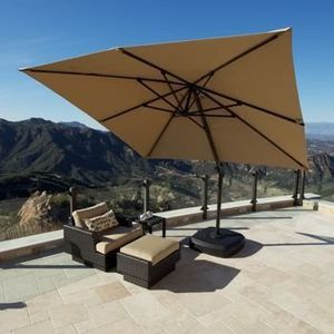 Outdoor patio cantilever sunbrella fabric umbrella for Sale in Chatsworth, CA