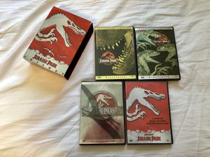 JURASSIC PARK TRILOGY 4 DISC COLLECTOR'S DVD SET WIDESCREEN DINOSAURS SPIELBERG for Sale in Glendale, CA