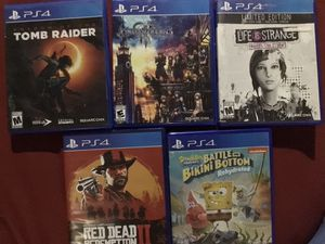 PlayStation 4 Games (PS4) for Sale in Victorville, CA