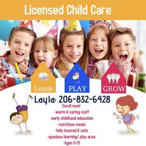 Childcare for Sale in Renton, WA