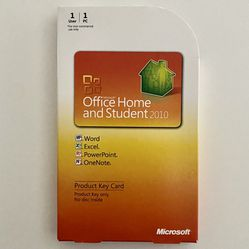 Microsoft Office Home and Student 2010 Windows Product Key Card 1 PC License for Sale in Largo,  FL