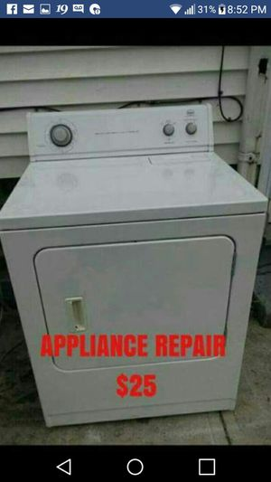 APPLIANCE REPAIR - WASHER - DRYER - STOVE - REFRIGERATOR $25 for Sale in Cleveland, OH