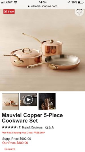 Brand new Mauviel copper pots for Sale in Columbus, OH