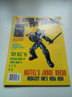 Vintage action figure news & toy review magazine/ July 1995/ Mattel's judge dress/ mega- city one' s mega hero/ holy Jenner bat review! for Sale in Dearborn Heights, MI