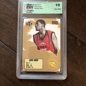 NBA Greg Oden Rookie Card Psa 10 Gem Mint for Sale in Chicago, IL