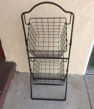 Wire stand and two baskets for Sale in Whittier, CA