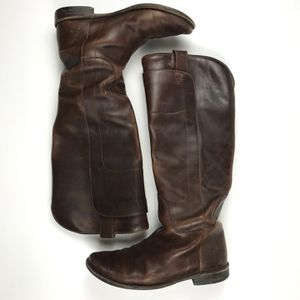 Frye Page Tall Leather Writing Boot Redwood Size 8 for Sale in Seattle, WA