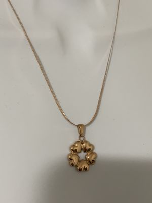 Three ole heart pendant rose gold with chain for Sale in FL, US