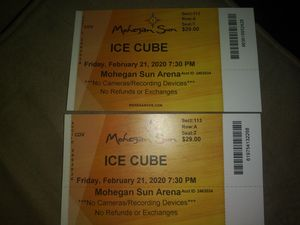 ICE CUBE TICKETS AT MOHEGAN SUN.. FRIDAY.. FEB-21 7:30..1ST $50 TAKES THEM for Sale in East Providence, RI