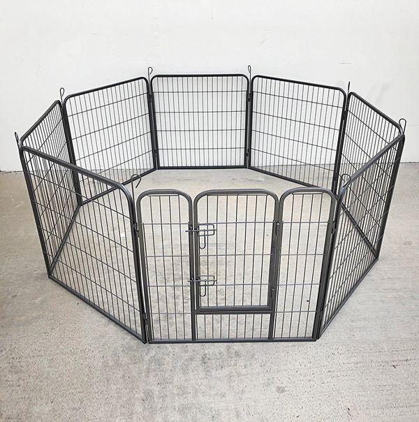 "New in box $90 Heavy Duty 32"" Tall x 32"" Wide x 8-Panel Pet Playpen Dog Crate Kennel Exercise Cage Fence"