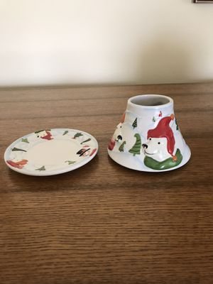 Yankee Candle shade & plate for 14.5 oz jar for Sale in Clarksville, MD