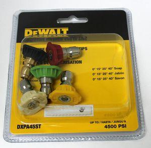 Dewalt DXPA45ST Pressure Washer Spray Tips 4500 PSI BRAND NEW Sale Price $19 for Sale in Lauderhill, FL