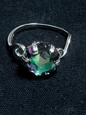 Sterling Silver Curved Multicolor CZ ring for Sale in Las Vegas, NV