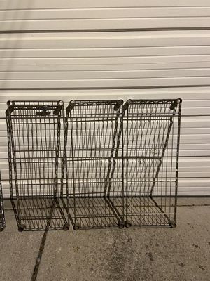 METAL SHELVES USED 3 (36x14) for Sale in Chicago, IL