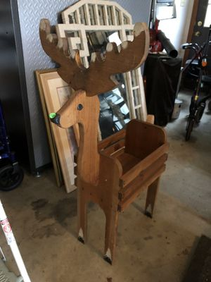 Wooden Reindeer Holder for Sale in Canonsburg, PA
