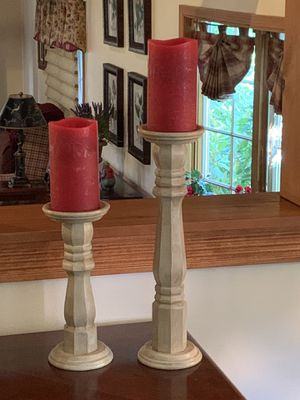 Pillar Candle Holders ( Set of 2 ) for Sale for sale  Pennington, NJ