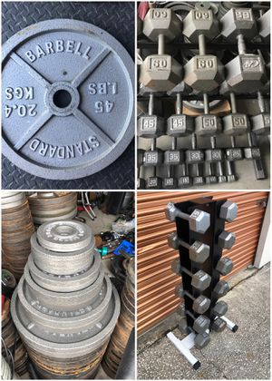 Dumbbells, Olympic Weight Plates, Trees, Racks, Barbells, Rubber, Bumpers, Benches for Sale in Davenport, FL