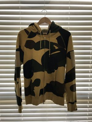 Yellow camo Bape hoodie for Sale in Garland, TX