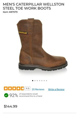 MEN'S CATERPILLAR WELLSTON STEEL TOE WORK BOOTS for Sale in New York, NY