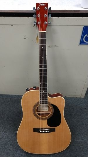 Johnson Thin Body Acoustic Electric Guitar Excellent Condition Natural Finish for Sale in Chula Vista, CA